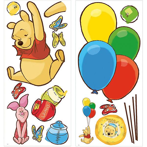 Wandsticker Pooh & Piglet Giant, 16-tlg., Disney Winnie Puuh   myToys