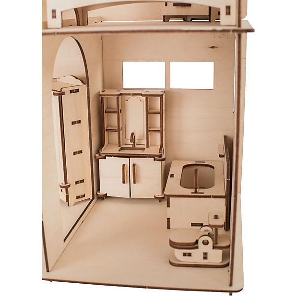 """Сборная модель Хэппидом """"Коттедж с пристройкой и мебелью"""""""