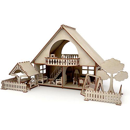 """Сборная модель ХэппиДом """"Летний дом с беседкой и качелями"""" от ХэппиДом"""