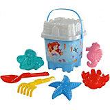 """Набор игрушек для песочницы Полесье """"Disney Русалочка"""" № 9, 8 предметов"""