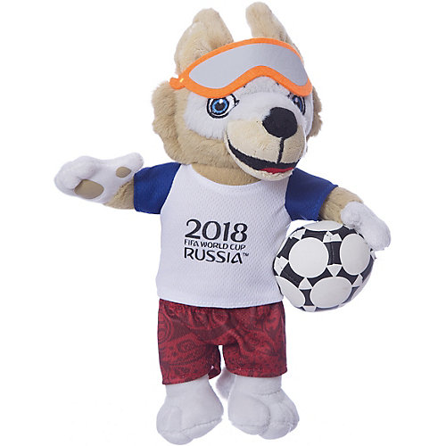 Мягкая игрушка FIFA-2018 1Toy Волк Забивака, 28 см от 1Toy