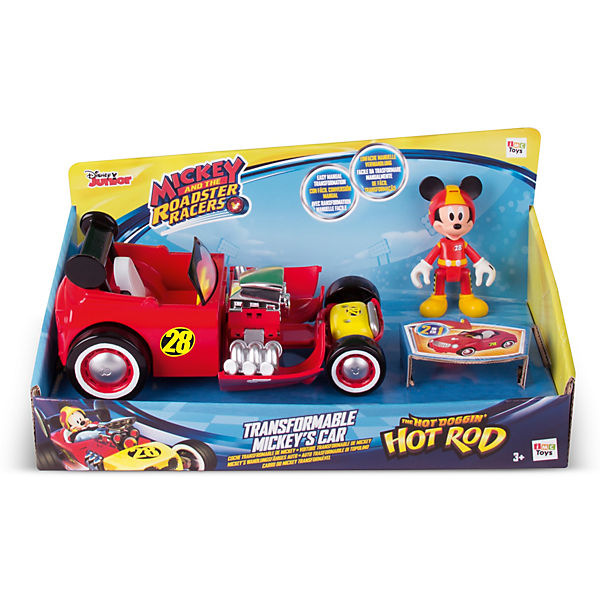 Micky Roadster Racers transformable Hot Doggin�Hot Rod, Disney Mickey Mouse & friends oLlr1T