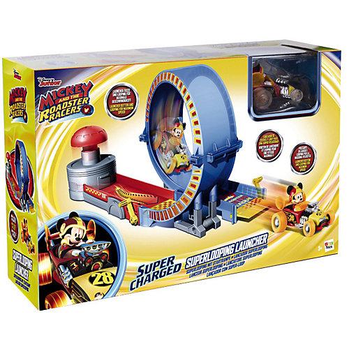 """Disney Игровой набор """"Микки и весёлые гонки: трюковое кольцо"""" (40х19х14 см, родстер) от IMC Toys"""