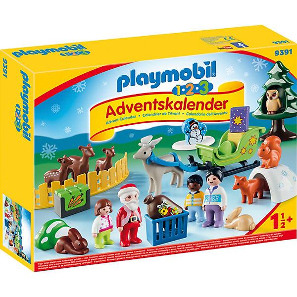 Playmobil 9391 1 2 3 Adventskalender Waldweihnacht Der Tiere
