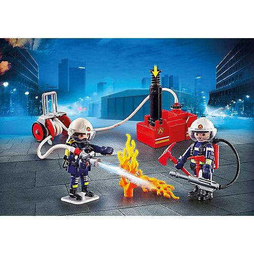 Игровой набор Playmobil «Пожарная служба: пожарные с водяным насосом» от PLAYMOBIL®