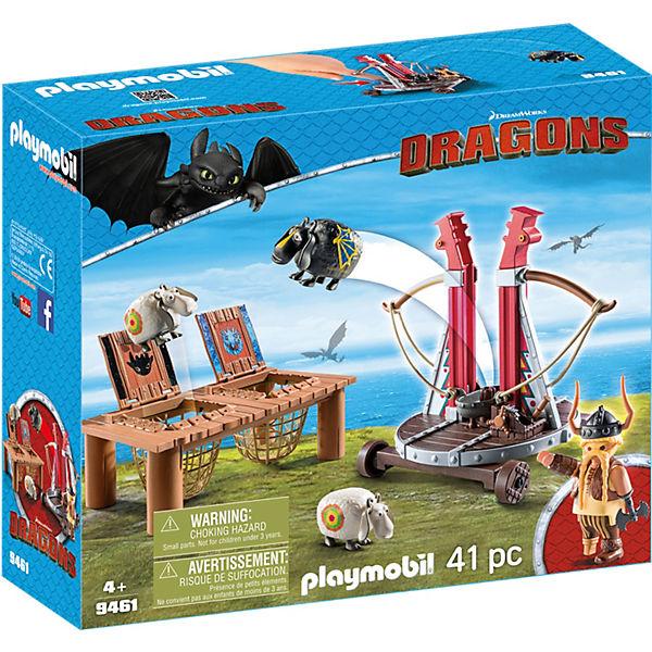 Playmobil 9461 Dragons Grobian Mit Schafschleuder Dragons Mytoys