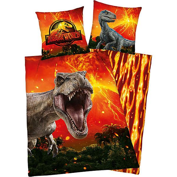 Wende Kinderbettwäsche Jurassic World Renforcé 135 X 200 Cm