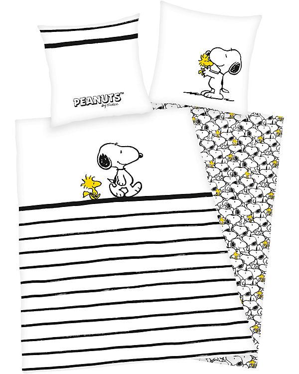 Wende Bettwäsche Peanuts Rencorcé 135 X 200 Cm Snoopy Die