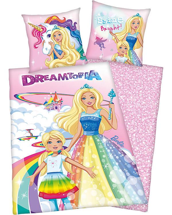 Wende Kinderbettwäsche Barbie Dreamtopia Rencorcé 135 X 200 Cm