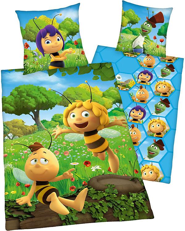 Wende Kinderbettwäsche Biene Maja Renforcé 135 X 200 Cm Biene