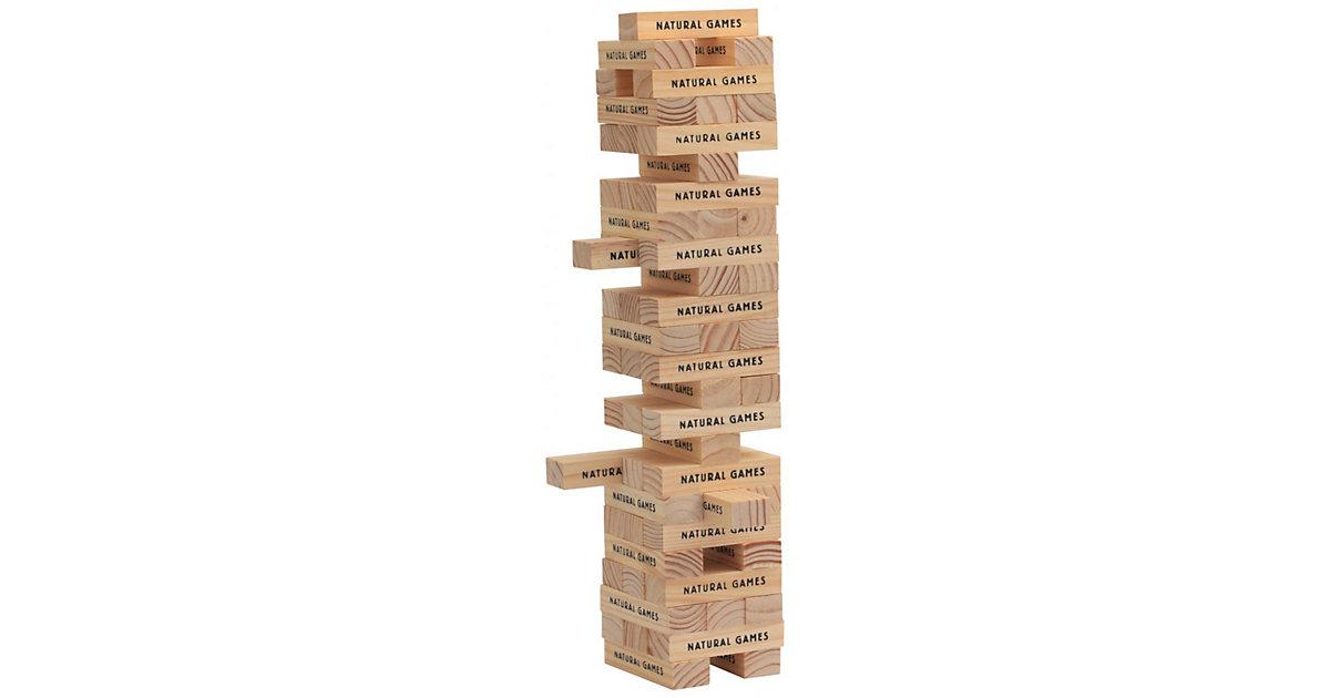 Natural Games · Wackel-Turm mit 60 Spielsteinen