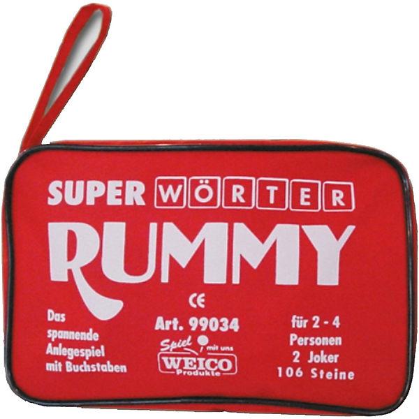 Weico Super Wörter Rummy 2-4 Sp. 106 Steine,