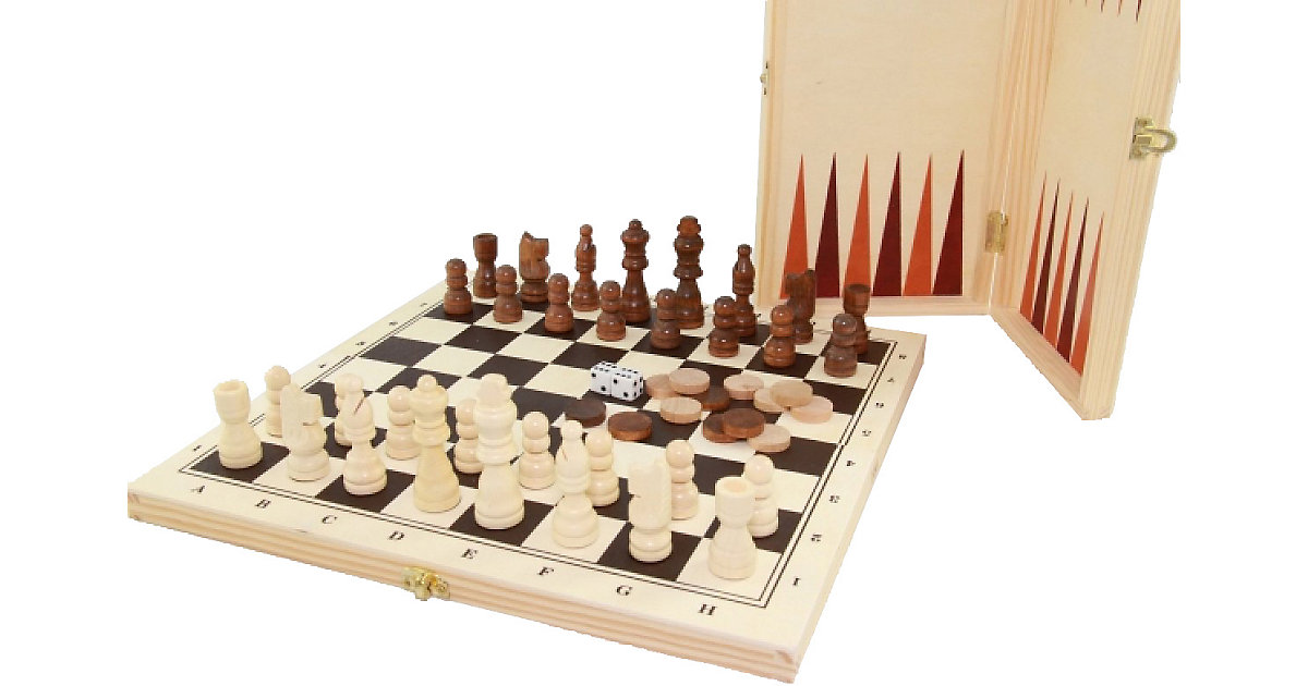 Longfield Schach/Dame/Backgammon Koffer