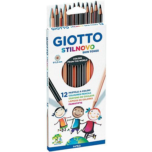 Карандаши GIOTTO имитирующие оттенки кожи человека, 12 штук от Giotto