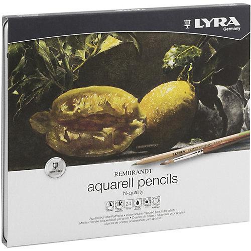 Профессиональный набор акварельных карандашей Lyra Rembrandt Aquarell, 24 цвета от LYRA