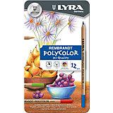 Профессиональные художественные карандаши POLYCOLOR, 12 цветов