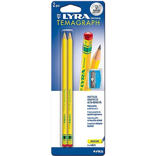 Чернографитные карандаши LYRA с точилкой, 2 штуки от LYRA