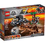 Конструктор LEGO Jurassic World 75929: Побег в гиросфере от карнотавра