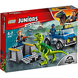 Конструктор LEGO Juniors 10757: Грузовик спасателей для перевозки раптора