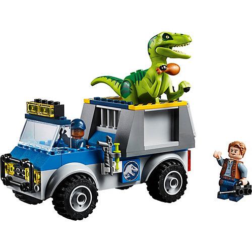 Конструктор LEGO Juniors 10757: Грузовик спасателей для перевозки раптора от LEGO