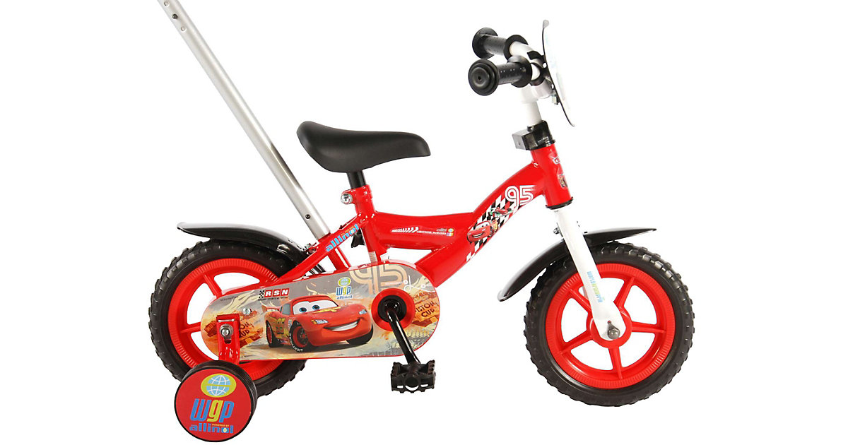 Disney Cars Kinderfahrrad - Jungen - 10 Zoll - Rot rot
