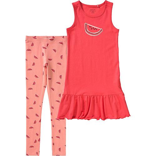 NAME IT Kinder Set Jerseykleid und Leggings Gr. 146 Mädchen Kinder   05713730650005