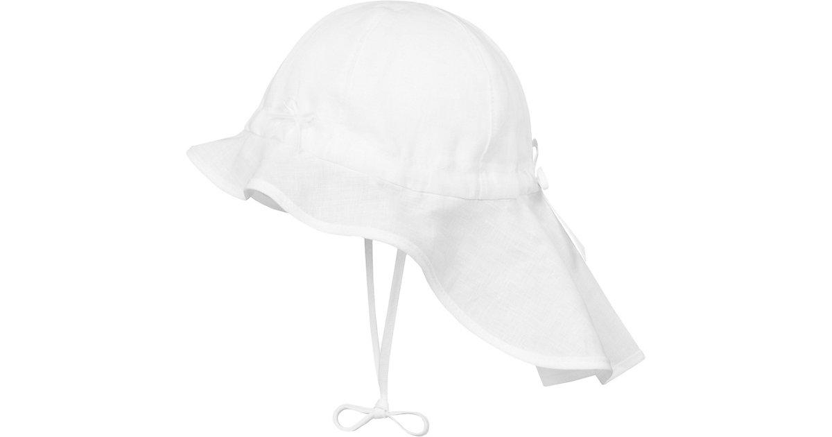 Sonnenhut mit Nackenschutz, Leinen weiß Gr. 53 | Accessoires > Hüte > Sonnenhüte | DÖLL