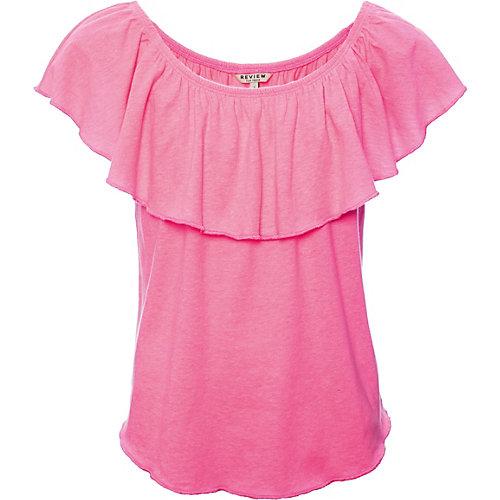Review T-Shirt mit Carmen-Kragen Gr. 140 Mädchen Kinder   04060479486688