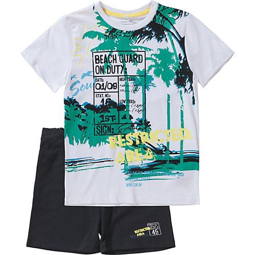 name it T-Shirt + Sweatshorts Set NKMZACCO Gr. 158/164 Jungen Kinder | 05713728636721