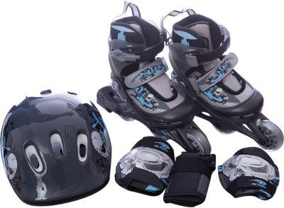 Набор: коньки Action ролик, защита, шлем