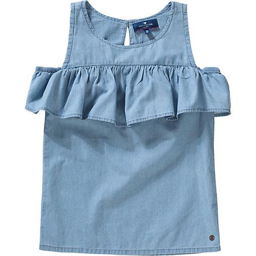 TOM TAILOR Kinder Kurzarmbluse mit Volants Gr. 152 Mädchen Kinder | 04060463180028