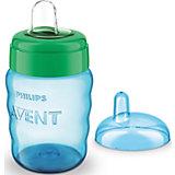 Чашка-поильник с носиком Avent Comfort, 260 мл, синий/зеленый