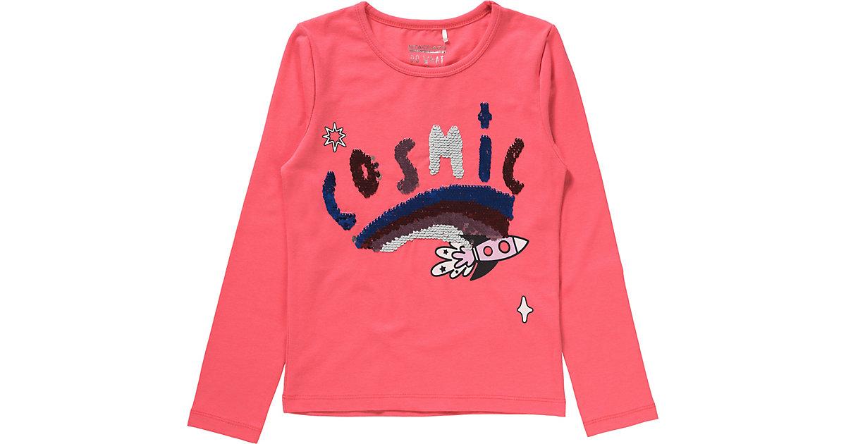 STACCATO · Langarmshirt mit Wendepailletten Gr. 104/110 Mädchen Kleinkinder