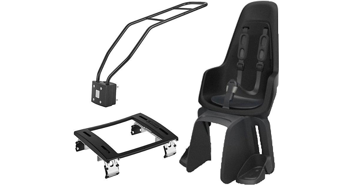 Fahrrad-Sicherheitssitz Maxi ONE, Urban Black, inkl. 1P-Montagesystem & Montagebügel E-Bike