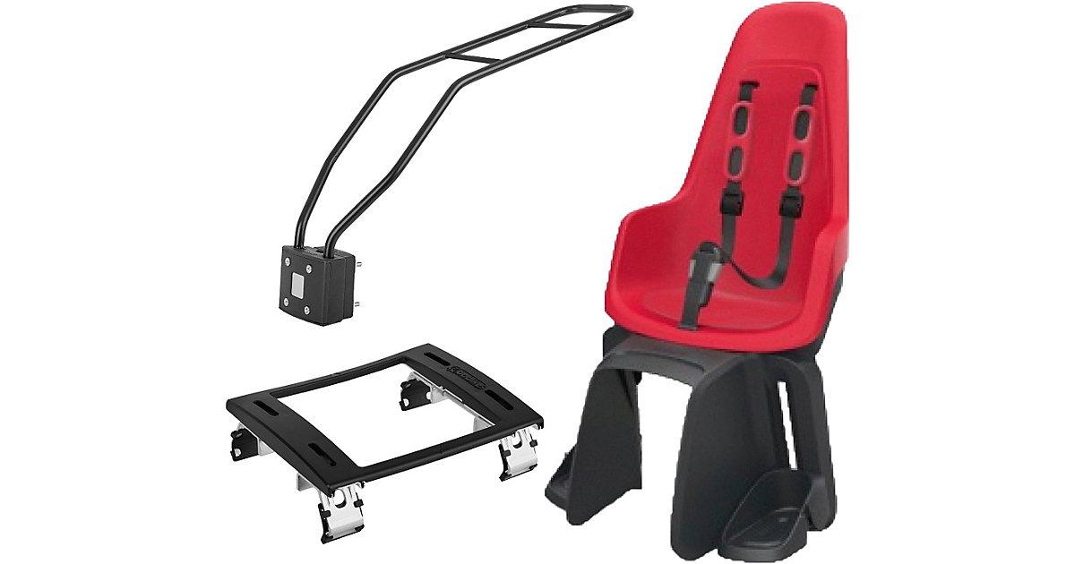 Fahrrad-Sicherheitssitz Maxi ONE, Strawberry Red, inkl. 1P-Montagesystem & Montagebügel E-Bike
