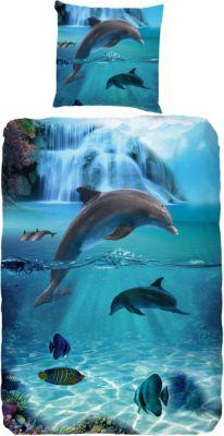Kinderbettwäsche Delfin Renforcé 135 X 200 Cm