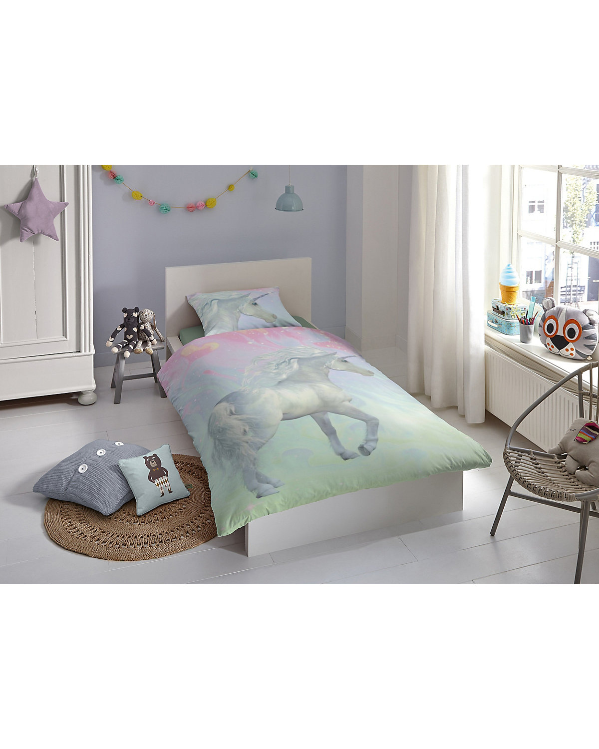kinderbettw sche einhorn renforc 135 x 200 cm mytoys. Black Bedroom Furniture Sets. Home Design Ideas