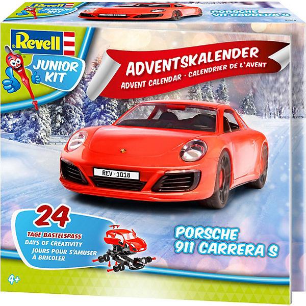 Revell Weihnachtskalender.Junior Kit Adventskalender Porsche 911 Revell Modellbausätze Junior Kit
