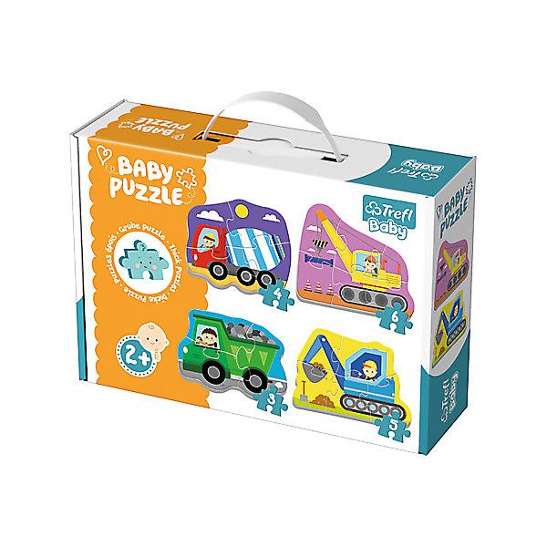 Baby Puzzle - Baufahrzeuge (3/4/5/6 Teile), Trefl