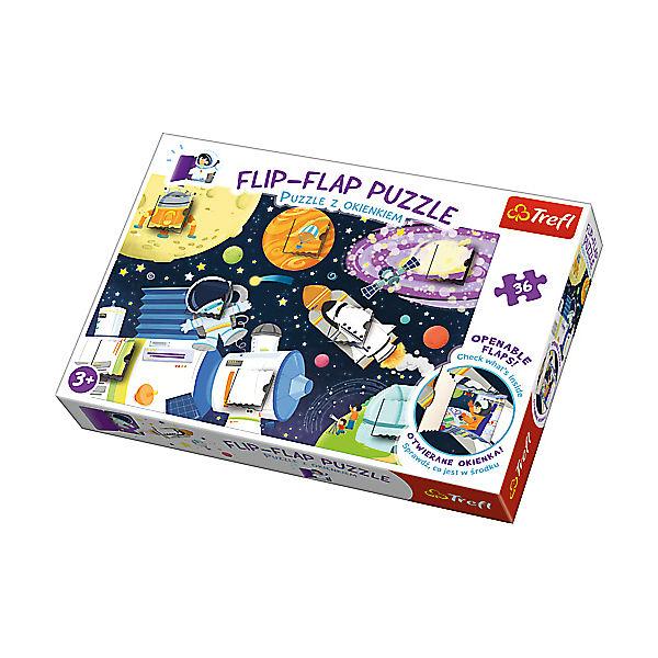 Flip-Flap Puzzle - Weltall (36 Teile), Trefl