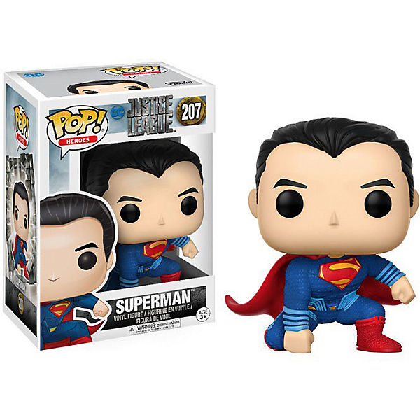 Funko POP! Heroes Sammelfigur: Justice League Movie - Superman, Marvel Heroes