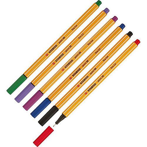 """Набор капиллярных ручек Stabilo """"Point 88"""", 6 цветов от STABILO"""