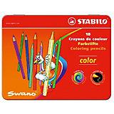 Набор цветных карандашей Stabilo, 18 цветов, в металлическом футляре