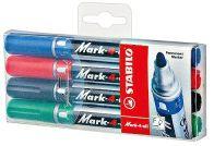 "Набор перманентных маркеров Stabilo ""Mark-4-All"" 1,5-2,5 мм, 4 шт"