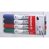 """Набор маркеров для досок Stabilo """"Plan"""" 1-5 мм, 4 шт"""