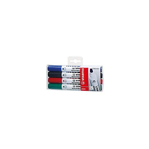 """Набор маркеров для досок Stabilo """"Plan"""" 2,5-3,5 мм, 4 шт от STABILO"""
