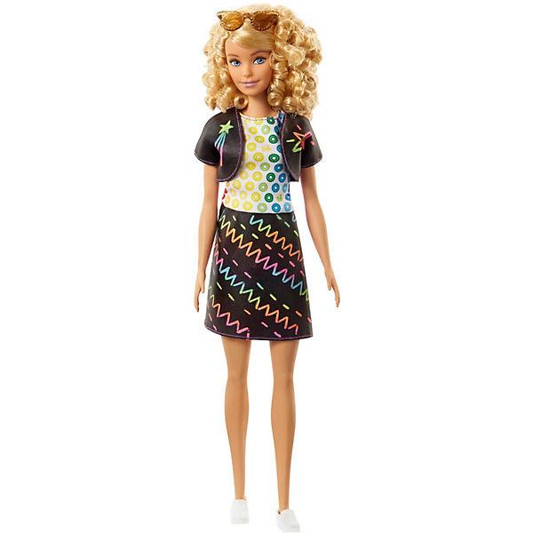 """Игровой набор Barbie Crayola """"Раскрась наряды"""" Радужный дизайн, с голубым манекеном"""