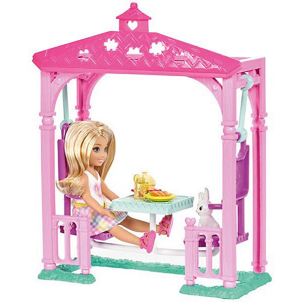 Игровой набор с мини-куклой Barbie Челси с беседкой