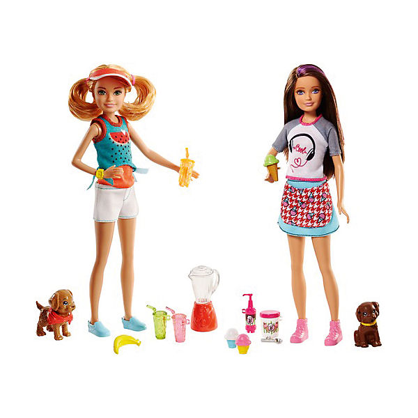 """Игровой набор с куклой барби Barbie """"Сестры и щенки"""""""