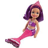 """Мини-кукла Barbie """"Маленькие русалочки"""" Волшебный гребешок Сияющая"""